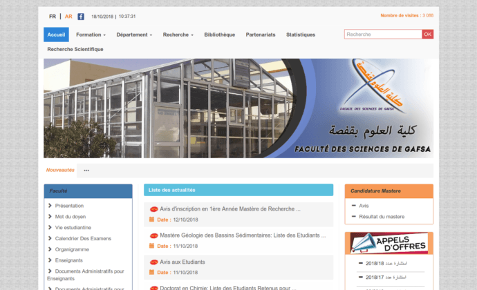 Faculté des Sciences de Gafsa